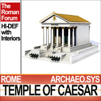 reconstruction temple caesar huelsen 3d 3ds