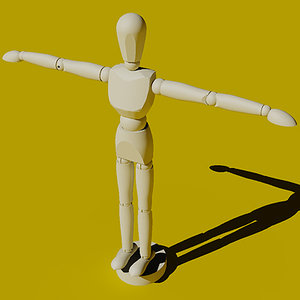 artist pose figure 3d 3ds