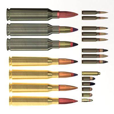 3d bullet ammo model