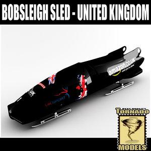 bobsleigh sled - uk obj