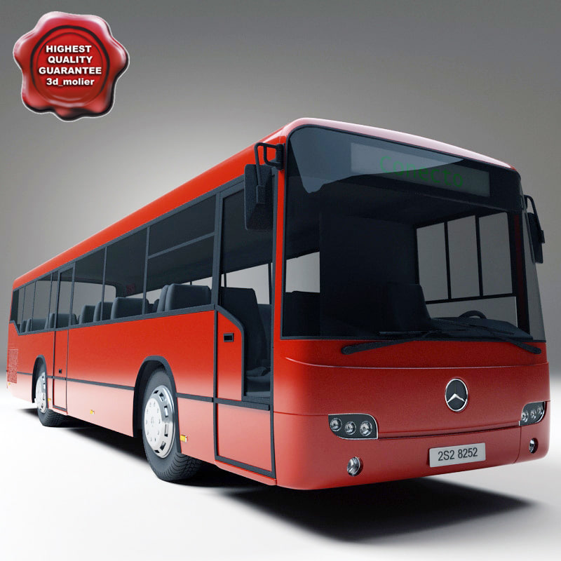 realistic bus mercedes benz 3ds