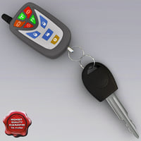 car key remote v1 3d max