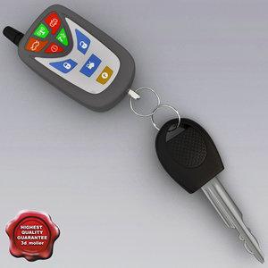 car key remote v1 3d max