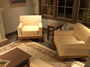 3d model of upholstery chair havana
