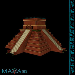 ossuary chichen itza 3d model