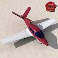 3d realistic cirrus vision sj50 model