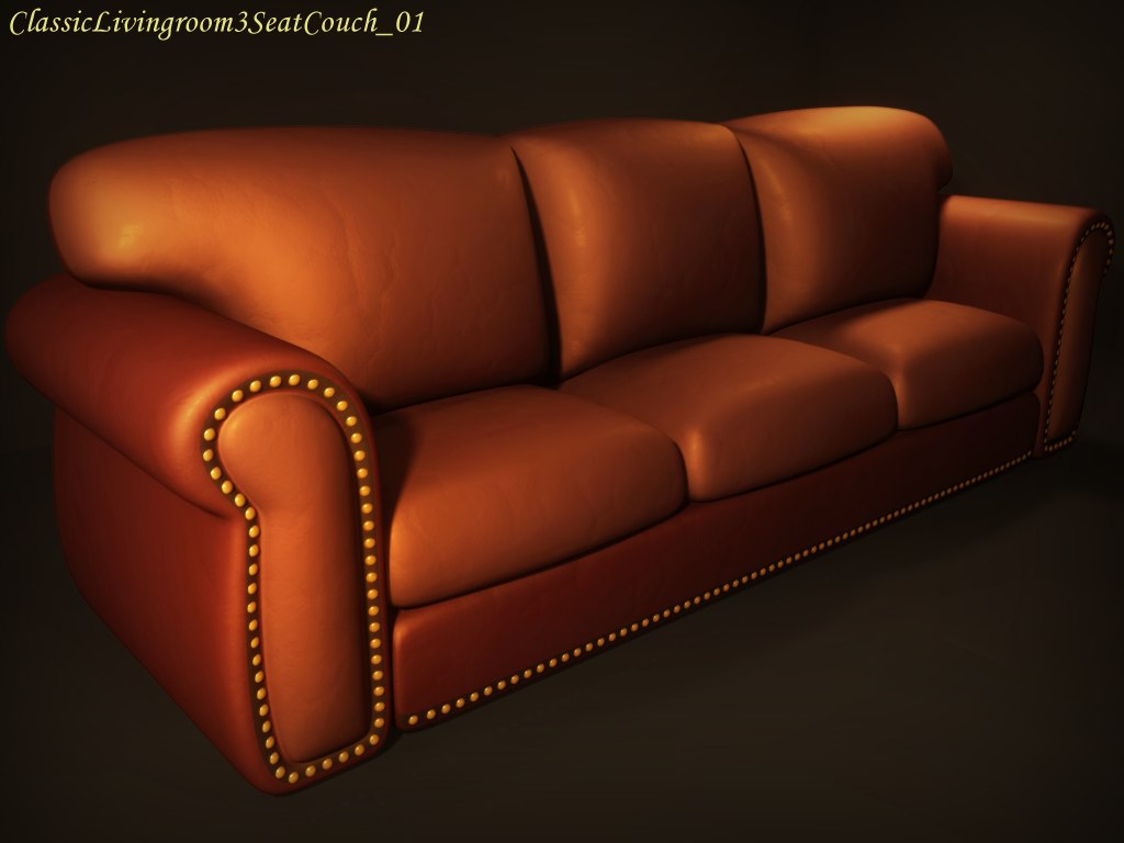 classic livingroom couch obj