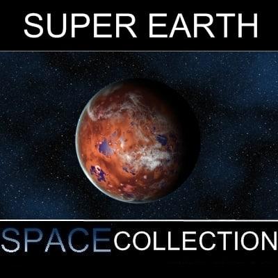 super planet earth 3d model
