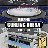 Curling Arena Interior and Exterior