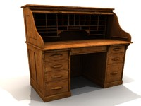 ANTIQUE WOOD DESK (ca. 1940)