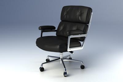 eames executive chair 3d model