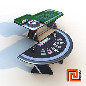 3d model set casino