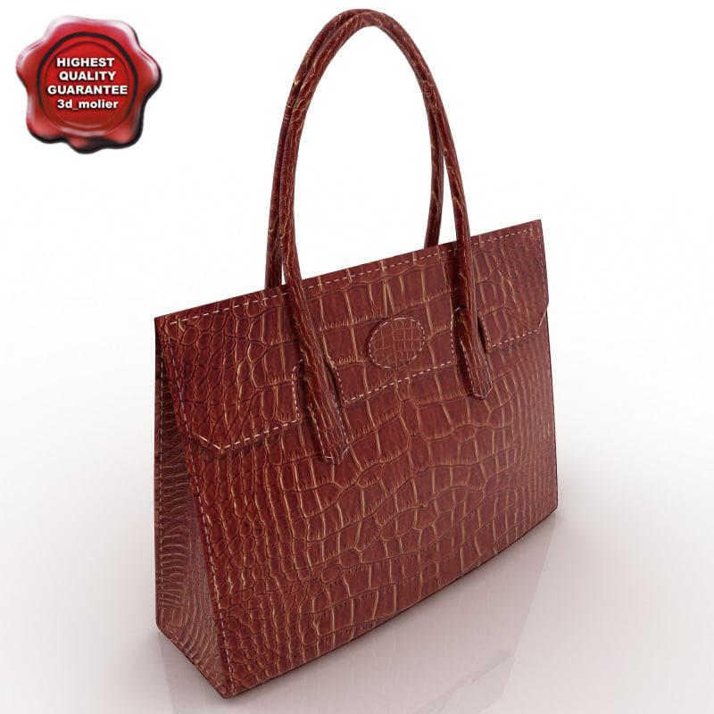 3d model handbag modelled
