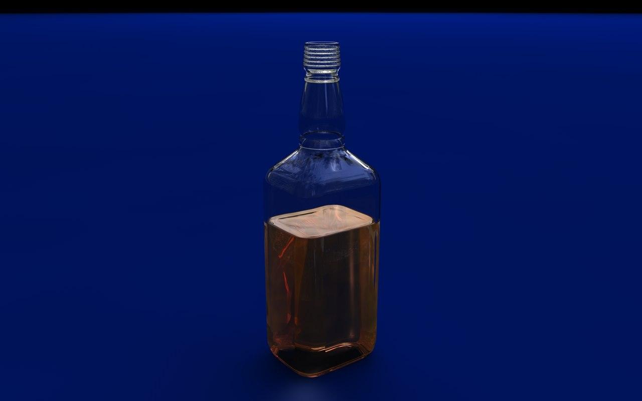 jack daniels bottle c4d