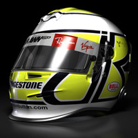 jenson button helmet 2009 3d max