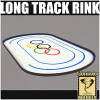 long track rink 3d max