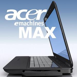 3d model notebook acer emachines eme525-902g16mi