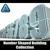 3d buildings shape numbers construction model