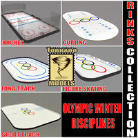 3d model winter olympic indoor disciplines