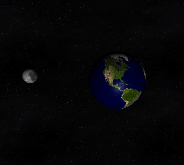 earth moon c4d free