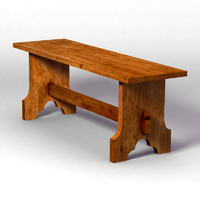 medieval bench 3d 3ds