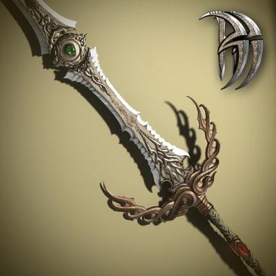 fantasy necromongers sword exotic 3d max