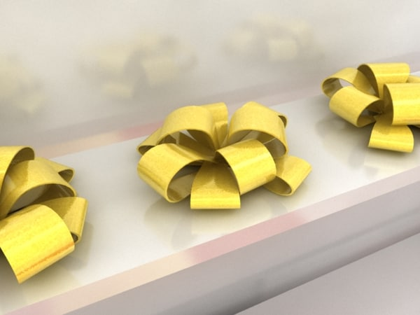 3d model of ribbon bows