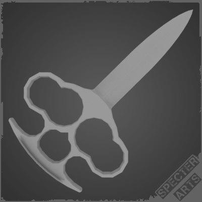3dsmax knuckle knife