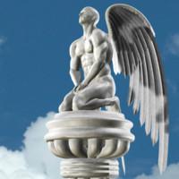 statue angel 3d model