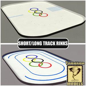 3d short long track rink