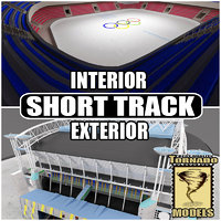 Short Track Arena Interior and Exterior