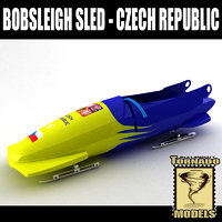 3d bobsleigh sled - czech