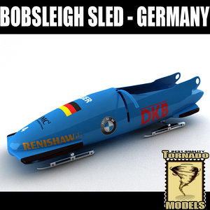 bobsleigh sled - germany 3d 3ds