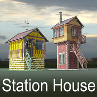 railroad signal box rail train obj