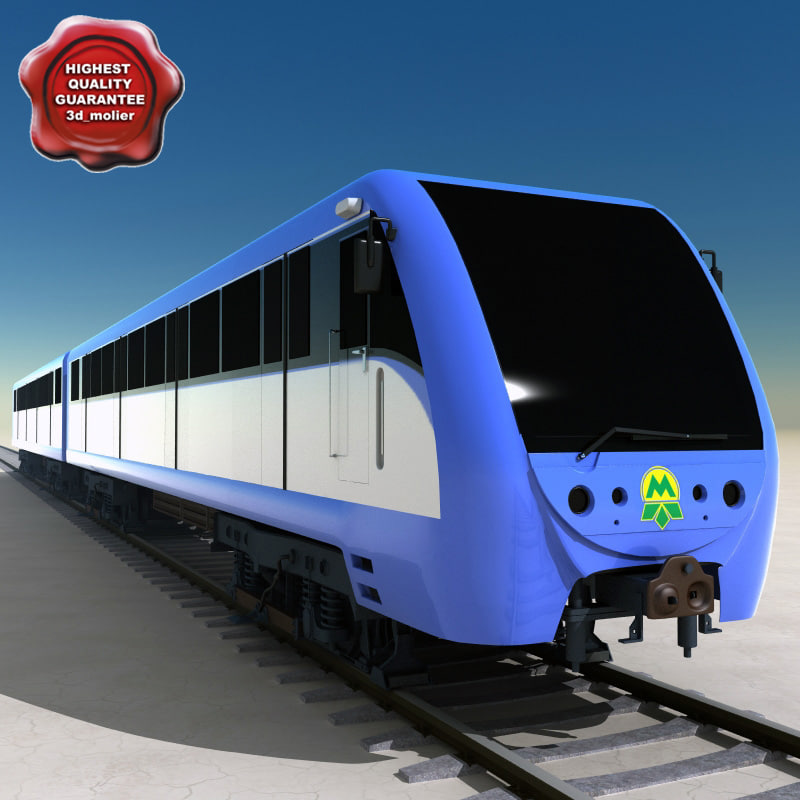 realistic subway car v2 3d obj