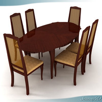 dinner table chairs 3ds