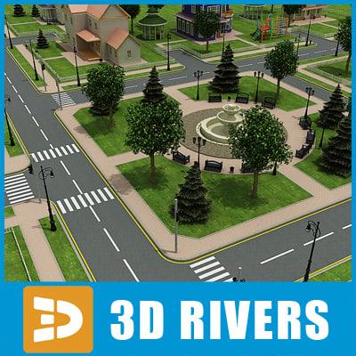town set 3d model