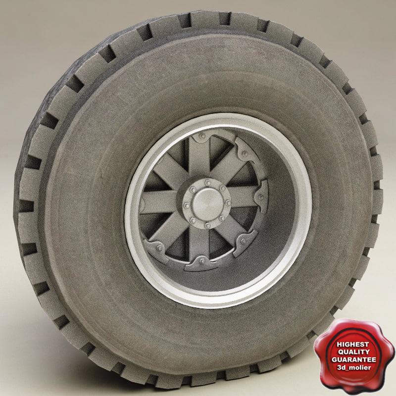 3d truck wheel v1