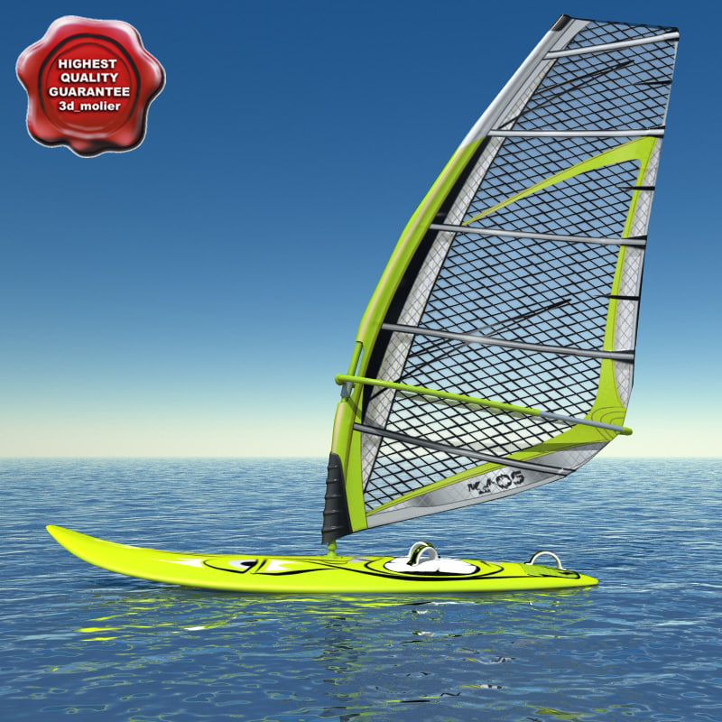 c4d windsurf modelled