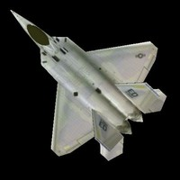 f-22 raptor jet fighter 3d model