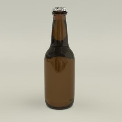 beer bottle 3d max