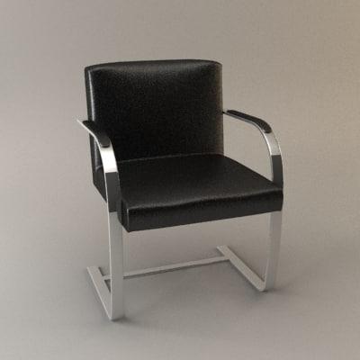 3d brno chair model