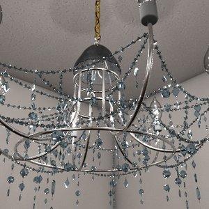 3d interior chandelier lighting model