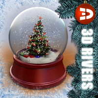 Christmas tree snow globe by 3DRivers