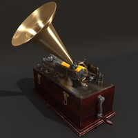 c4d edisons phonograph