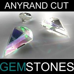 anyrand cut gem 3d max