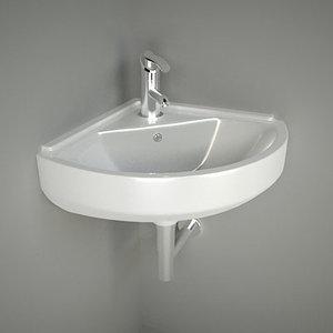 3d model washbasin corner