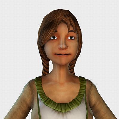 female farmer 3d model
