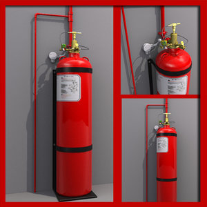 3d model gas discharge extinguisher