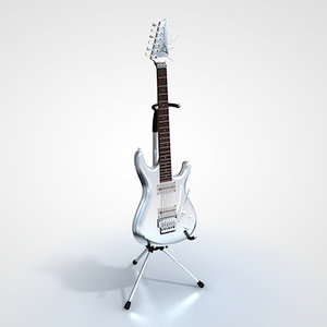 electric guitar ibanez 3d model